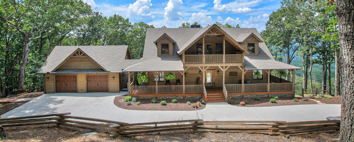 Misty Ridge log home cabin floor plan exterior