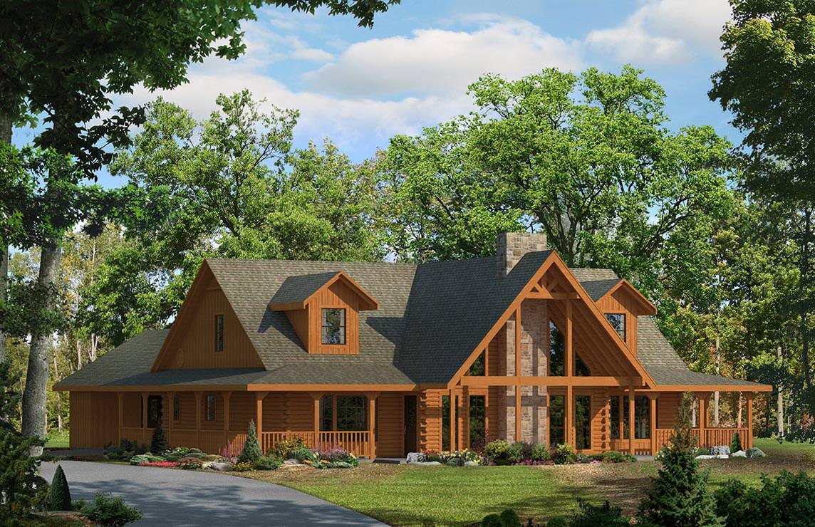 Satterwhite Log Homes Woodland Floor Plan